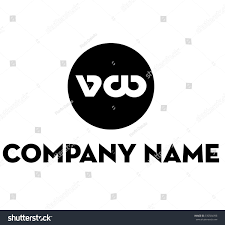 volkswagen logo black and white vw logo stock vector 330924098 shutterstock