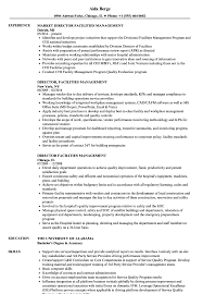 director facilities management resume samples velvet jobs