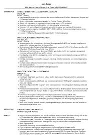 director facilities management resume samples velvet jobs