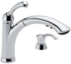 Amazon Delta Kitchen Faucets Delta 16926 Sd Dst Lewiston Single Handle Pull Out Kitchen Faucet