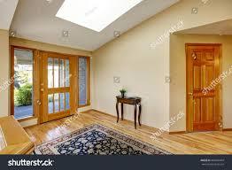 Hardwood Floor Rug Nice Bright Entry Way Home Hardwood Stock Photo 469449404