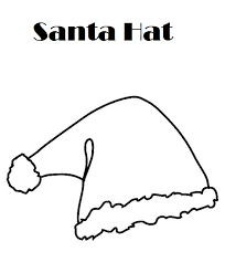 printable santa hat coloring pages coloring
