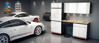 Woodworking Garage Cabinets Porsche Themed Garage Cabinets Race Into Homes This Fall