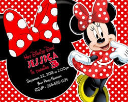 minnie mouse invitations minnie mouse birthday party invitations personalized custom