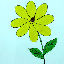 how to draw a flower how to make a flower drawing cartoon