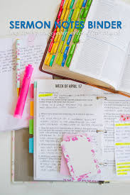 How To Organize Sermon Notes Binder How To Organize Your Notes After Church