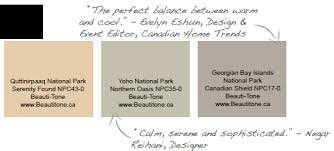 paint your home in colors inspired by canada u0027s national parks