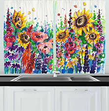 kitchen decor collections amazon com ambesonne kitchen decor collection floral watercolor
