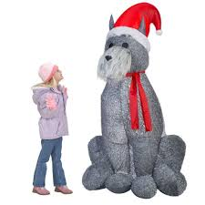 Home Depot Inflatable Christmas Decorations Amazon Com Christmas Large 6 U0027 Furry Gray Schnauzer Dog Airblown