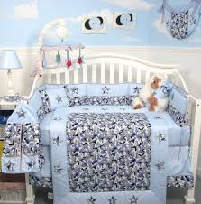 Blue Camo Bed Set Soho Modern Blue Camouflage Baby Crib Nursery Bedding Set 13 Pcs