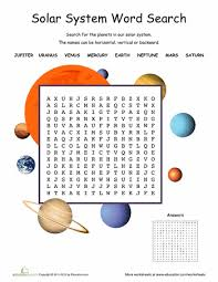 solar system word search science week word search and solar system