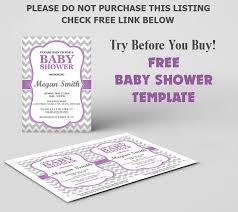 free baby shower invitation template diy editable template