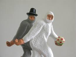 wedding cake toppers large bigfoot couple 39 00 via etsy