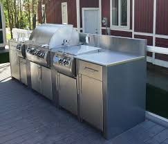 Outdoor Kitchen Cabinets Magnificent Stainless Steel Outdoor Kitchens 2 Cabinets Resize