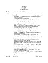 objective objective for pharmacy technician resume
