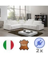 canape angle cuir relax electrique canapé angle moderne cuir 2 relax électrique système audio
