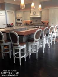 kitchen bars and islands kitchen island bar ideas with grothouse wood surfaces blog