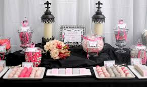 Pink And White Candy Buffet by San Kelly Dessert Table Candy Table And Wedding