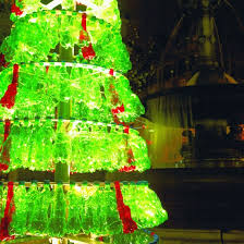 recycled soda bottles make for a stunning christmas tree bit rebels