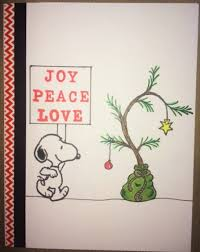 snoopy tree brown christmas tree with snoopy card oh you