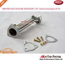 audi a4 b5 performance parts mertop race catless turbo downpipe exhaust for 97 05 au di a4 b5