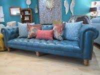 Blue Leather Chesterfield Sofa Blue Chesterfield Sofa Sofas Armchairs Couches Suites For