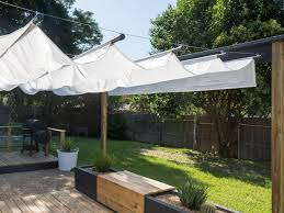 Backyard Shade Canopy by How To Build An Outdoor Canopy Hgtv