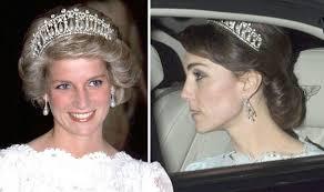 kate middleton wedding tiara kate middleton wears princess diana s signature tiara for