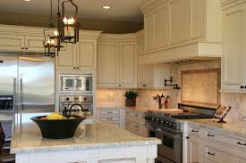 Kitchen Backsplash Ideas With Cream Cabinets Cream Cabinets With Brown Granite Countertops Hottest Home Design