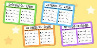 add three one digit numbers number bonds to 10 ks1 math