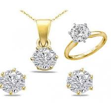 gold set in pakistan 18k gold plated zarcoon earing pendant ring set price in pakistan