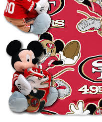 san francisco 49ers mickey mouse plush u0026 throw zulily