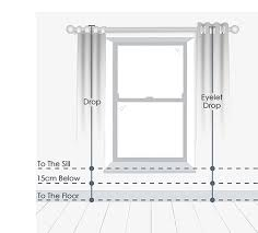 Length Curtains Curtains Measuring Guide Blinds Curtains Made To Measure