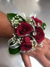 prom wrist corsage ideas abby classic spray flower wrist corsage diamanté bracelet