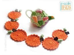 crochet pumpkin coasters free crochet pattern allcrafts free