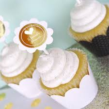 personalized cupcake toppers metallic foil personalized cupcake wrappers cupcake toppers set of
