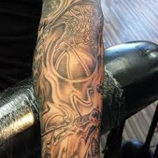 40 basketball tattoo designs and ideas for men i luv sports