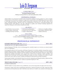 Licensed Practical Nurse Sample Resume by Lpn Resume Experience