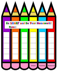 homework award printable