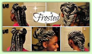 grey and purple combined together style box breads gray and black braids find your perfect hair style