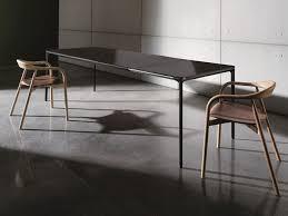 slim wood extending table by sovet italia design matthias demacker