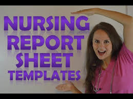 Nursing Report Sheet Templates Nursing Shift Report Sheet Templates How To Give A Nursing Shift