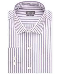 kenneth cole reaction slim fit amethyst stripe performance dress
