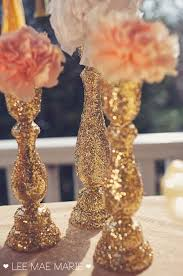 decorating vases with glitter or rhinestones or paper glue could