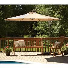 furniture cream cantilever patio umbrella design with wooden arm