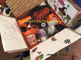 halloween care package with kids cammo style love