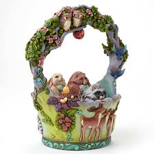 jim shore easter baskets jim shore woodland easter basket landmcollectibles