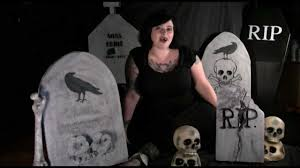 halloween tombstones on a black background how to make creepy headstones for halloween youtube