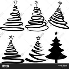 christmas trees contains fill only vector u0026 photo bigstock