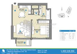5 Bedroom Apartment Floor Plans by Floor Plan Of Act One Act Two The Opera District Dubai
